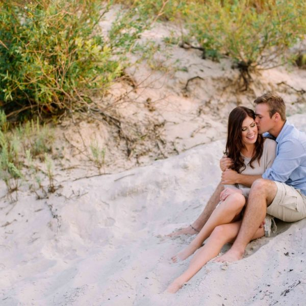 Jesse and Chelsea Engaged - Engagement Session at Grand Beach, Manitoba