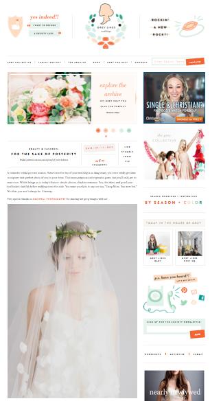 Feature on GREY LIKES WEDDINGS!